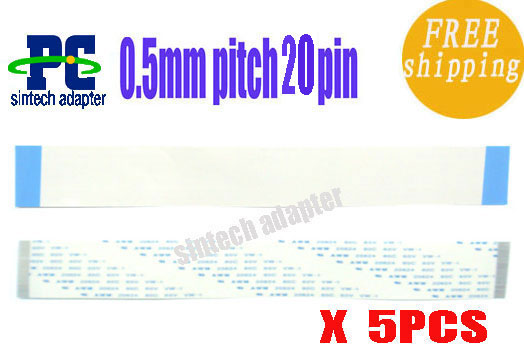 5PCS AWM 20624 FPC FFC CABLE 0.5mm pitch 20PIN 90mm