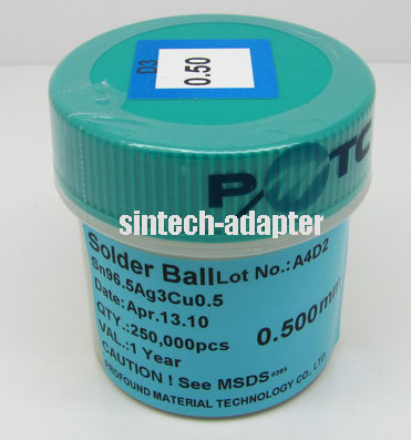 0.5mm 250K pcs BGA Solder Ball Lead-Free