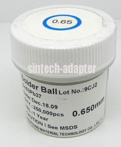 0.65mm 250K pcs BGA Solder Ball Lead