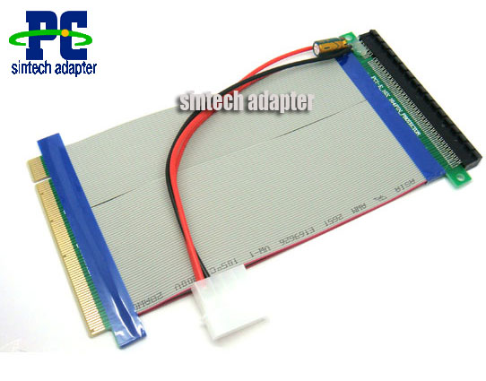 PCI-e express 16X to 16x Riser Extender Card with molex power