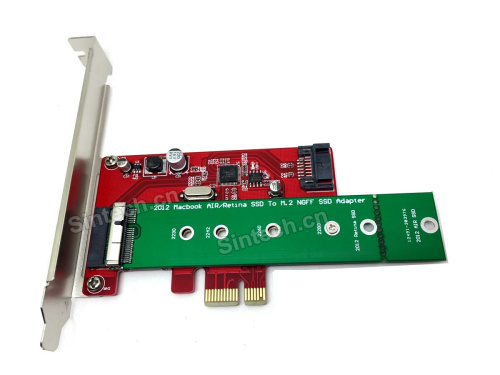 2012 macbook Air 24pin SSD+SATA 3 PCI-e X1 adapter card