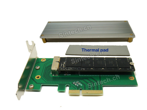 2013-2014 MacBook Pro +Air SSD to PCI-e 4X adapter - Click Image to Close