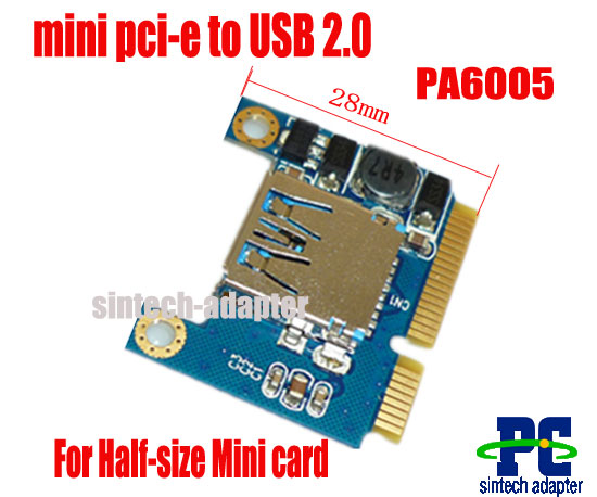 mini pci-e to USB 2.0 disk,wifi,wireless card adapter