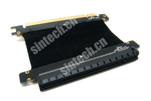 PCI-E express X16 riser card with High speed flex cable