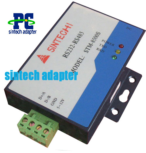 RS-232 to RS-485 converter with power supply