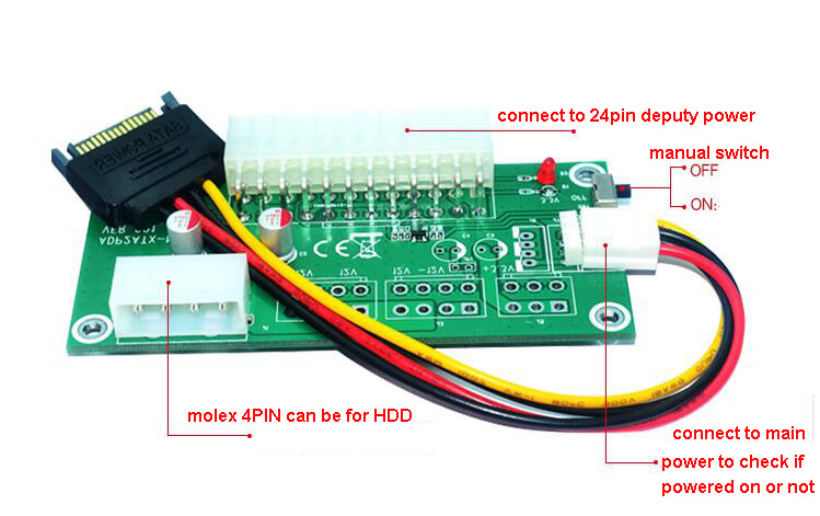 main deputy dual power on/off switch controller adapter for diy