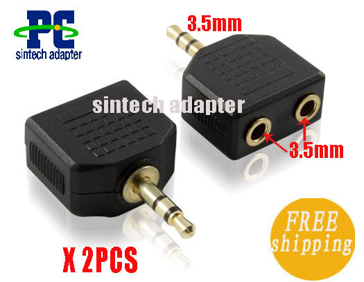 3.5mm Male to 3.5mm Female X 2 adapter