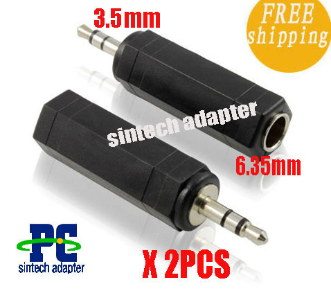 3.5mm Male to 6.35mm Female Adapter