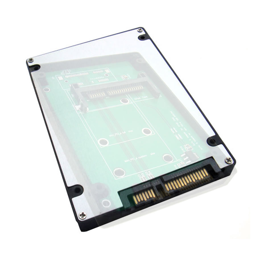 "CFast CF to 2.5"" SATA adapter card with case as SSD HDD"