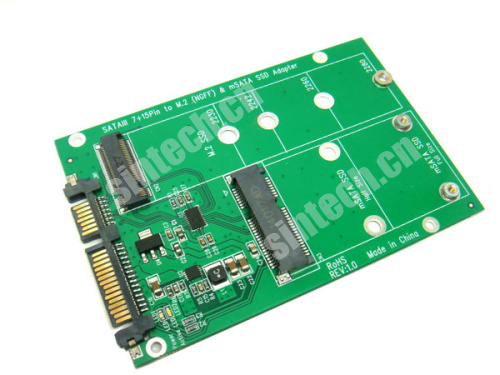 NGFF M.2 B+M KEY or mSATA SSD to SATA III 3 Adapter card