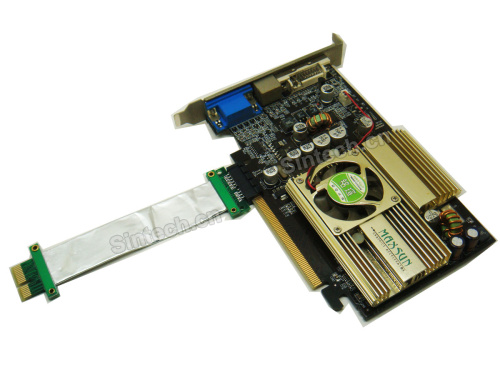 PCI-E express X1 riser card with 10CM high speed flex cable