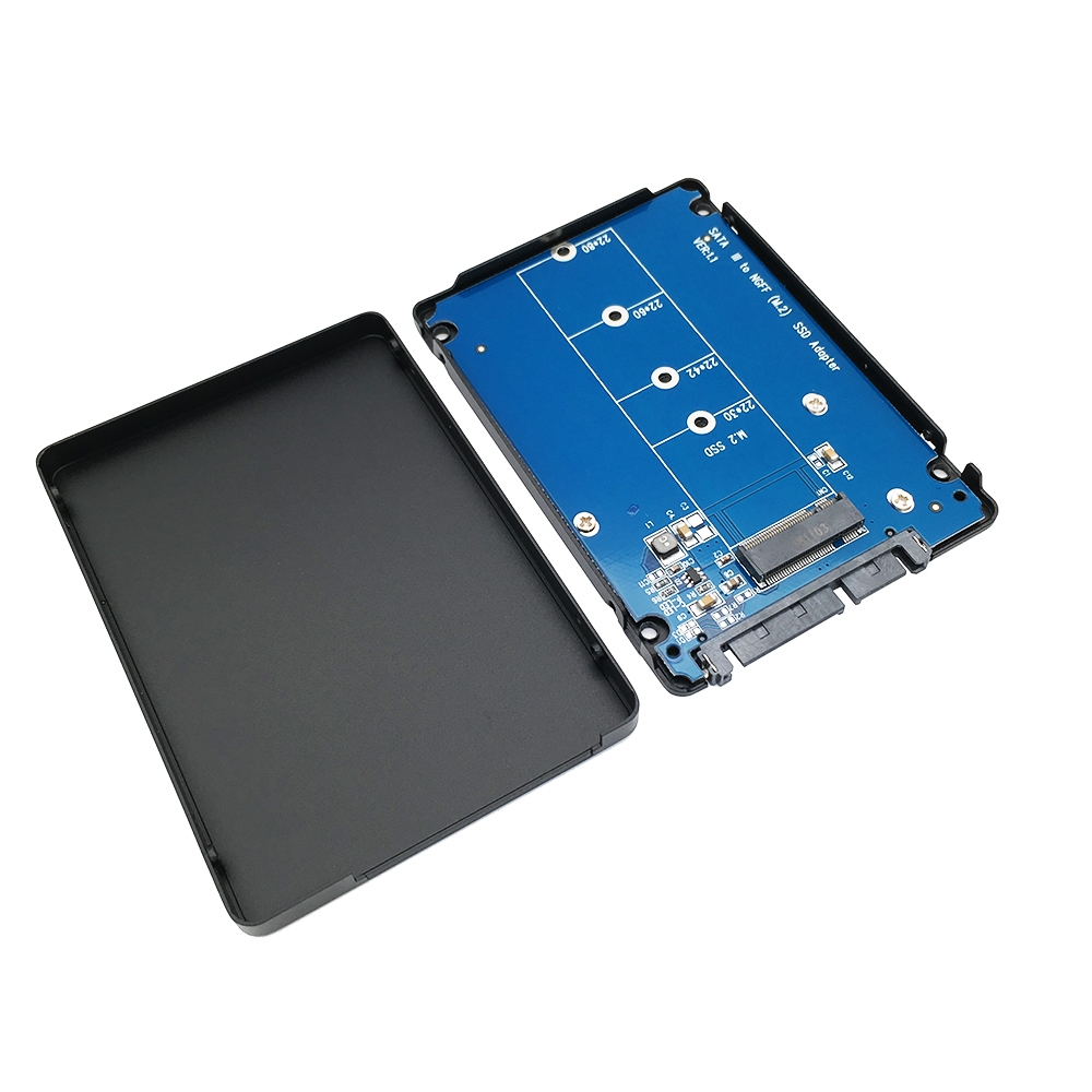 M.2(NGFF) SATA KEY B+M SSD to SATA Adapter with 7mm case - Click Image to Close