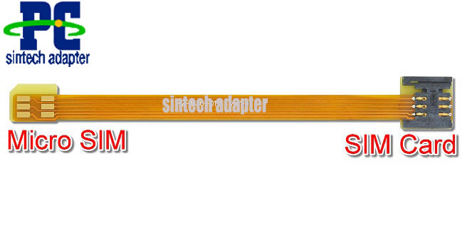 micro SIM to SIM Card Extender FFC FPC cable for SAMSUNG Galaxy