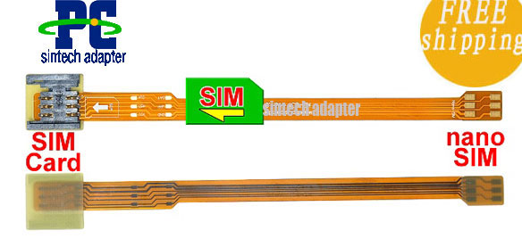 nano SIM to SIM Card Extender FFC FPC cable for iPhone 5, new iP - Click Image to Close