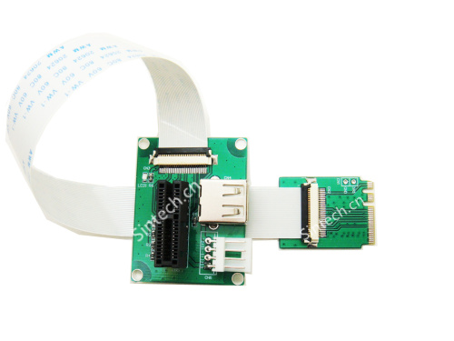 PCI-E express X1/UB to M2 A/E Key Adapter card+FPC cable