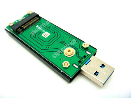 M.2(NGFF) SATA KEY B+M SSD to USB 3.0 Adapter Card