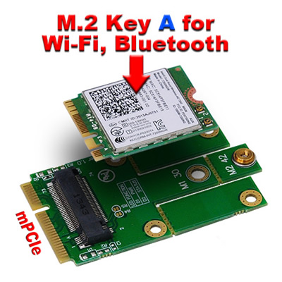 M.2 Intel 7260 wifi wireless card to mPCIe (PCIe+USB) Adapter