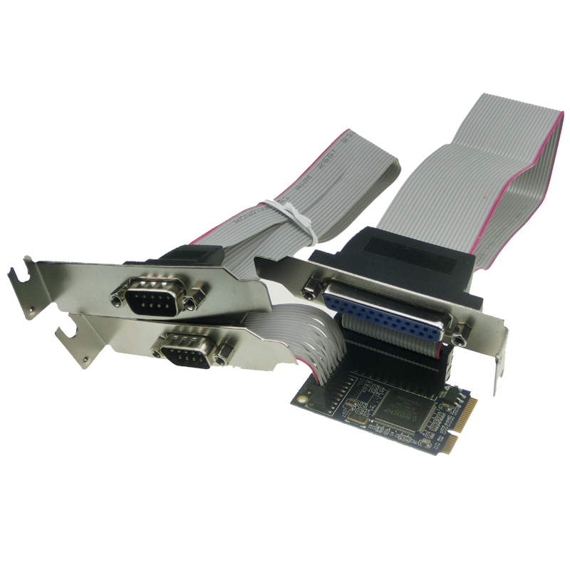 Mini PCI-e 2 Serial 1 Parallel printer port Controller Card