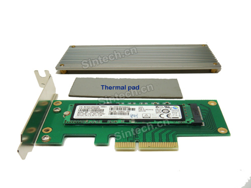 M.2 (NGFF) key M SSD to PCIe X4 Adapter for Samsung XP941 SM951 - Click Image to Close