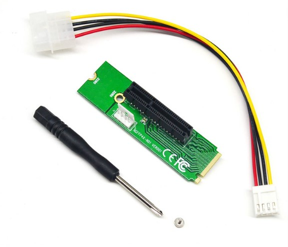 PCI-e 1X 4X NGFF M.2 M-Key card diy bitcoin miner