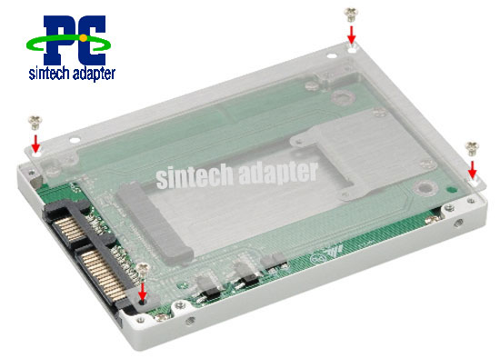 2.5 inch SATA motherboard to mini pcie pci-e ssd adapter