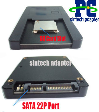 Low power consumption SD ,SDIO ,SDHC ,SDXC ,MMC to SATA Adapter