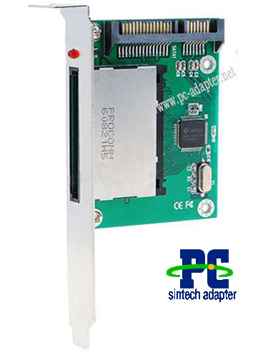 Compact Flash CF to SATA Adapter Card with Bracket