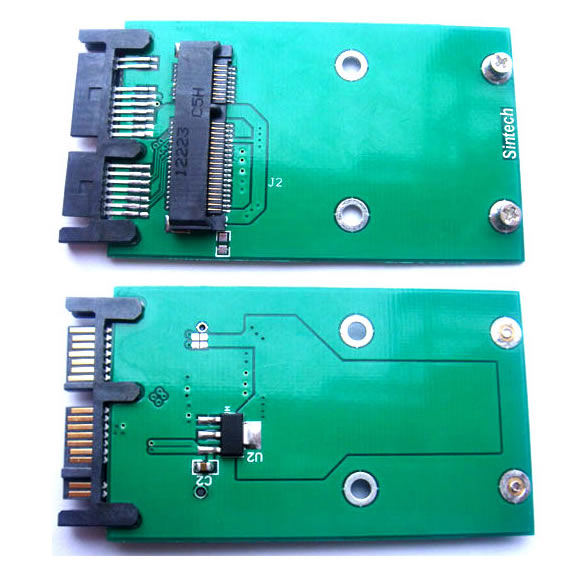 Mini PCIe mSATA 3x5cm SSD to 1.8 inch Micro SATA Adapter card