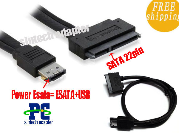 Power ESATA (esata+usb combo) to 22Pin SATA cable(50cm)