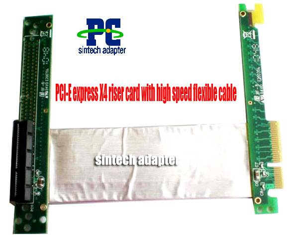 PCI-E express X4 riser card with high speed flex cable
