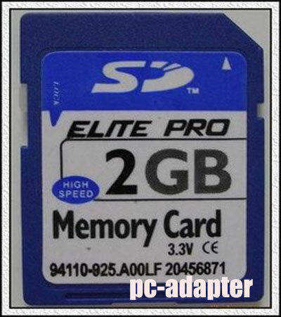 2GB Secure Digital SD Memory Card Genuine Chips