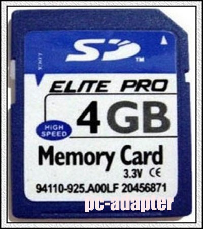 4GB Secure Digital SD Memory Card Genuine Chips