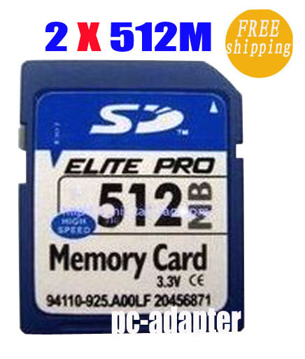 2 x 512MB Secure Digital SD Memory Card Genuine Chips