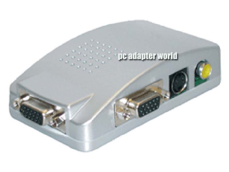 PC VGA TO TV Converter BOX S-Video ADAPTER