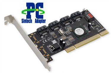 PCI 32bits to 4 SATA II raid card adapter Sil 3124