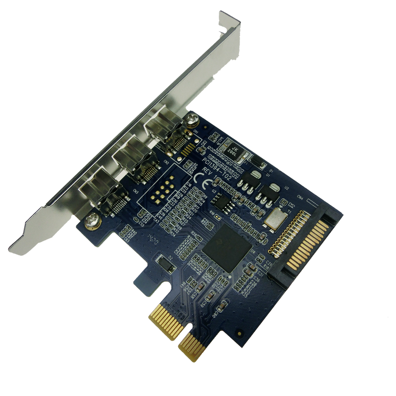 3ports FIREWIRE 800 1394B PCI-e Express adapter Card TI