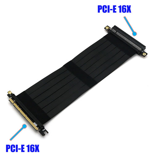PCI-E express X16 riser card with High speed flex cable 50CMs