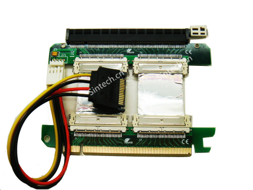 PCI-E express X16 riser card with 5cms foiled FPC cable