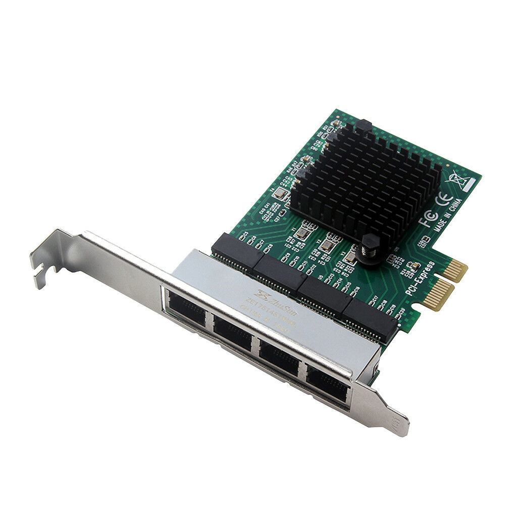 PCI-e 1X 4Port 1000Mbps Gigabit Network LAN Card