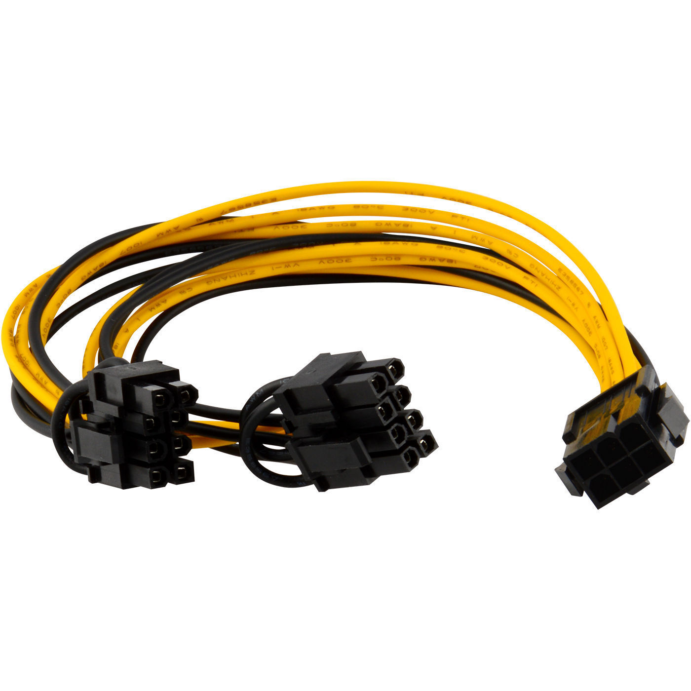 6 pin PCIe to dual 8(6+2)pin splitter cable 20 cm for powering e - Click Image to Close