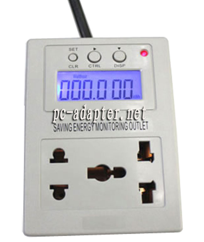 Energy Evaluation Monitor Power Saving Meter AC Outlet adapter