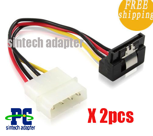 SATA power cable wiht latch--angled