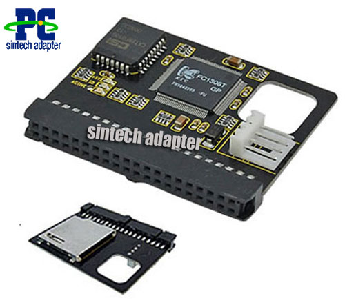 SDHC SD Memory Card to 40pin female IDE adapter