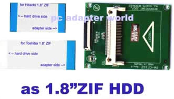 "CF card to 1.8""ZIF adapter for IPOD"
