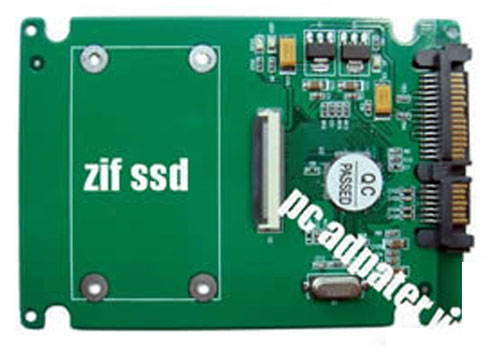 "1.8"" ZIF(CE) to SATA adapter as 2.5""SATA SSD"