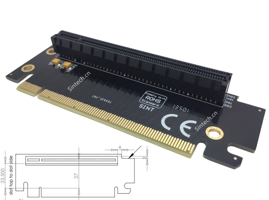 High Quality PCI-E express 16X riser extension card