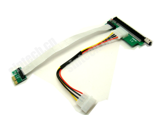 PCI-e 1X to 16x Riser Card 20cms+molex power cable for bitcoin m