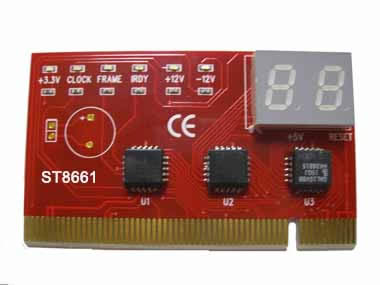 PCI 2 bit diagnostic post debug test card