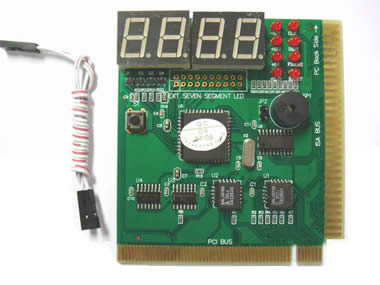 PCI&ISA 4 bit pc motherboard diagnostic post debug test card