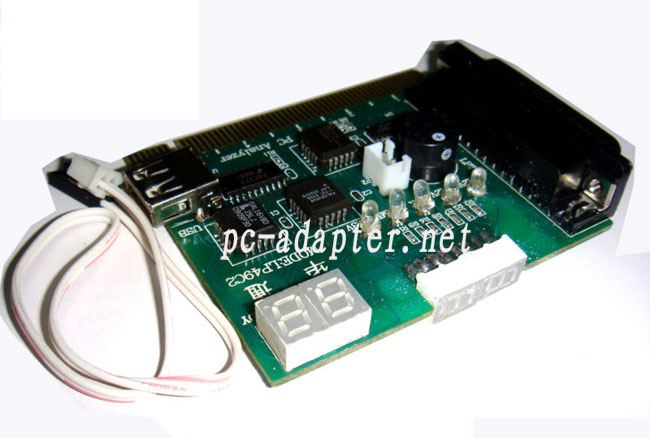 pc motherboard PCI&LPT 4 bits diagnostic post test card